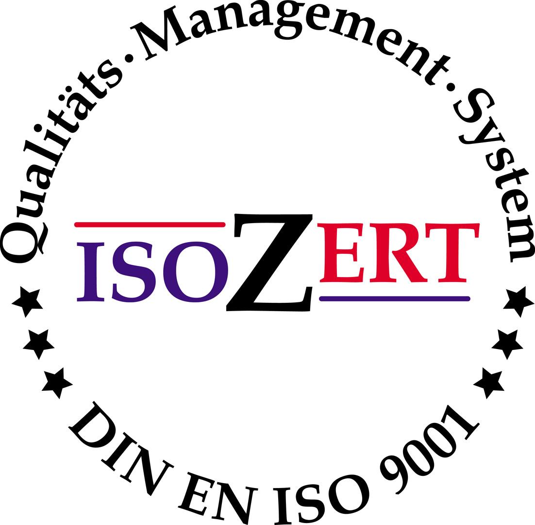 ISO Zertifikat-Siegel